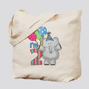 Lil Elephant 2nd Birthday Tote Bag