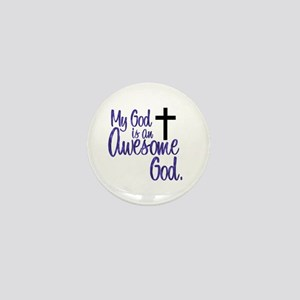 Awesome God Mini Button