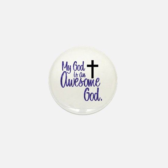 Awesome God Mini Button