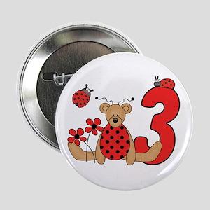 """Ladybug Bear 3rd Birthday 2.25"""" Button"""