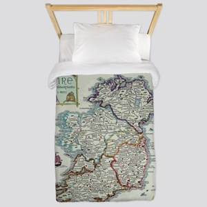 Ireland Map - Irish Eire Erin His Twin Duvet Cover