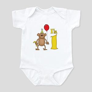 Funny Monkey First Birthday Infant Bodysuit