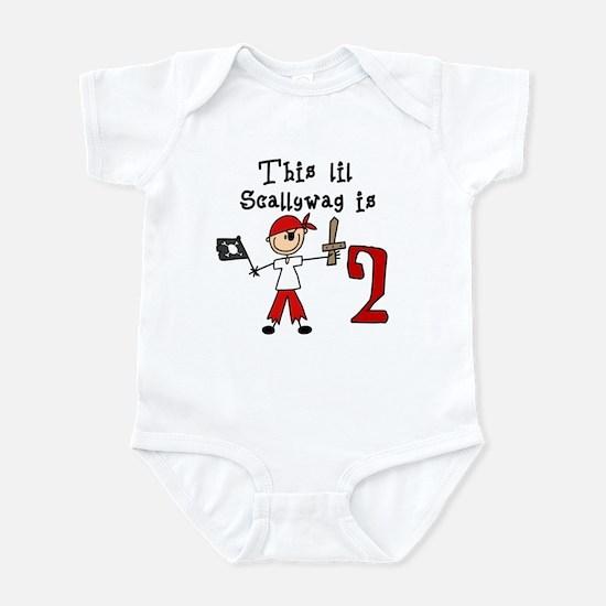 Stick Pirate 2nd Birthday Infant Bodysuit