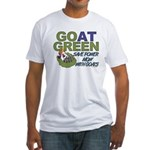 GOat Green Fitted T-Shirt