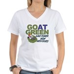 GOat Green Women's V-Neck T-Shirt