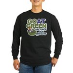 GOat Green Long Sleeve Dark T-Shirt