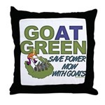 GOat Green Throw Pillow