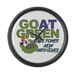 GOat Green Large Wall Clock