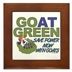 GOat Green Framed Tile