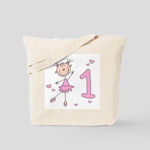 Stick Ballerina First Birthday Tote Bag