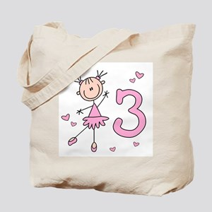 Stick Ballerina 3rd Birthday Tote Bag