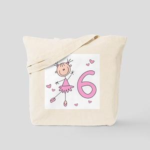 Stick Ballerina 6th Birthday Tote Bag