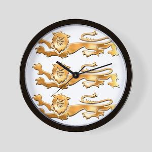 Three Gold Lions Wall Clock