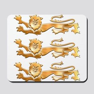 Three Gold Lions Mousepad