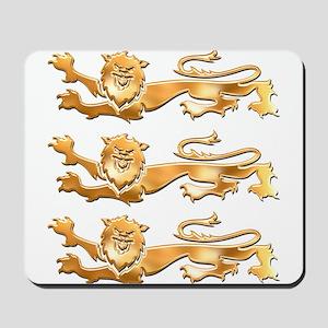 Three Gold Lions Mousepad