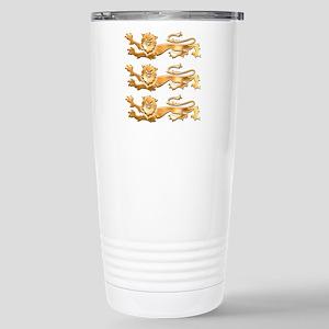 Three Gold Lions Stainless Steel Travel Mug