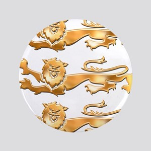 """Three Gold Lions 3.5"""" Button"""