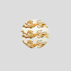 Three Gold Lions Mini Button