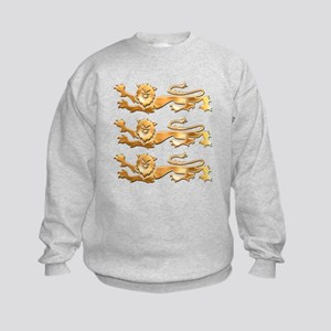 Three Gold Lions Kids Sweatshirt