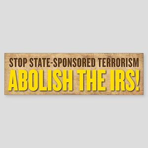 IRS Terrorism Bumper Sticker