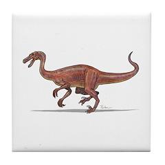 Troodon Dinosaur Tile Coaster
