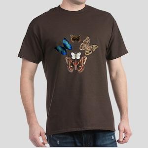 Butterfly and Moth Sampler Dark T-Shirt