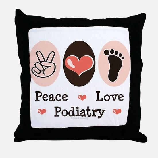 Peace Love Podiatry Throw Pillow