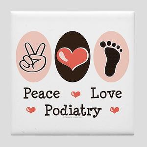Peace Love Podiatry Tile Coaster
