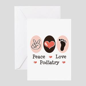 Peace Love Podiatry Greeting Card