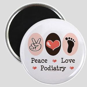 Peace Love Podiatry Magnet