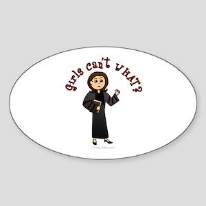 Light Pastor Oval Sticker