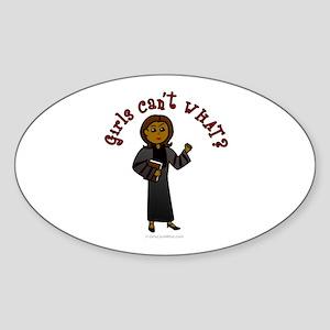 Dark Pastor Oval Sticker