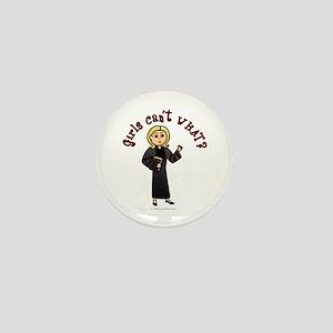 Blonde Pastor Mini Button
