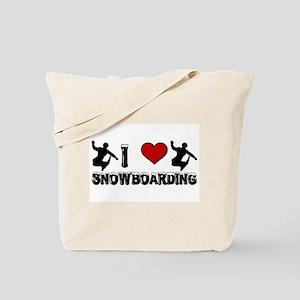 I Love Snowboarding! Tote Bag