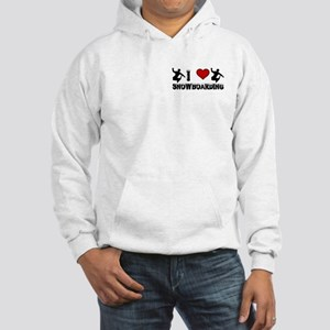 I Love Snowboarding! Hooded Sweatshirt