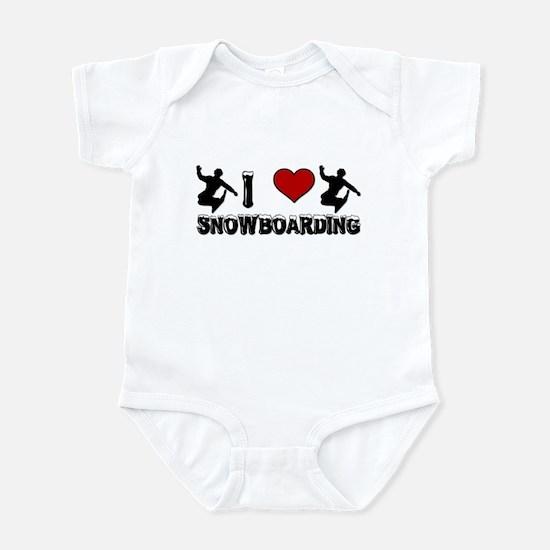 I Love Snowboarding! Infant Creeper