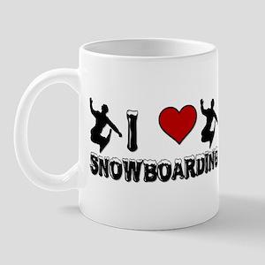 I Love Snowboarding! Mug