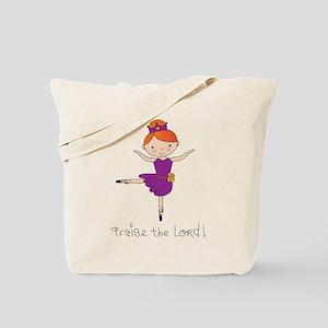 Ballerina Dancer Red Head Tote Bag