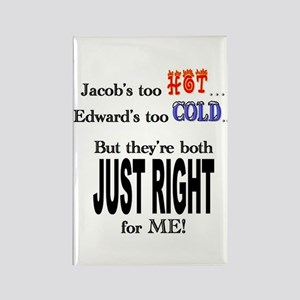 Jacob and Edward for ME Rectangle Magnet