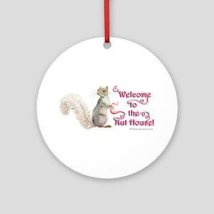 Squirrel Nut House Round Ornament