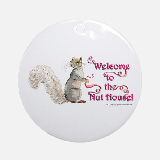 Squirrel Nut House Round Ornament