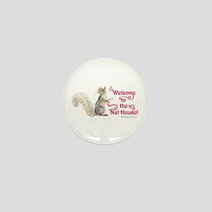 Squirrel Nut House Mini Button