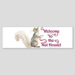Squirrel Nut House Sticker (Bumper)