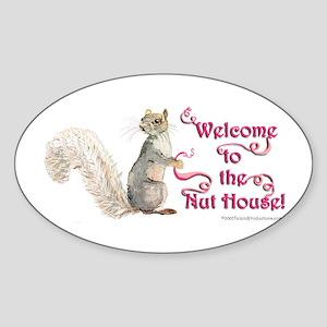 Squirrel Nut House Sticker (Oval)