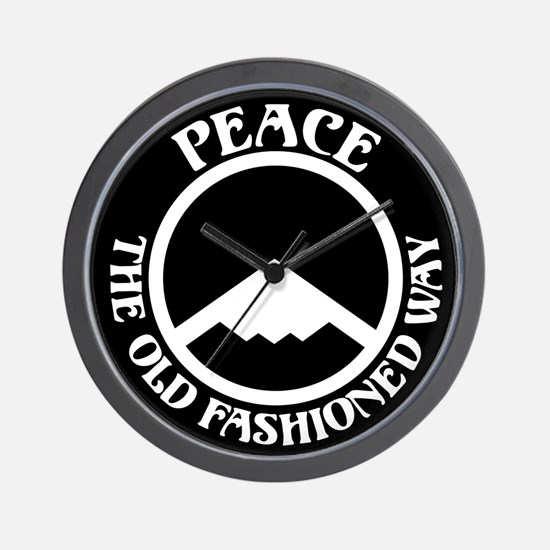 Peace with Stealth Wall Clock