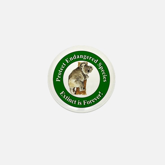 Protect Endangered Species Mini Button