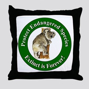 Protect Endangered Species Throw Pillow