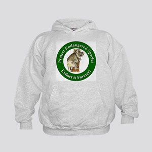 Protect Endangered Species (Front) Kids Hoodie