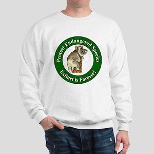 Protect Endangered Species (Front) Sweatshirt