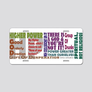 12- Step Higher Power Aluminum License Plate